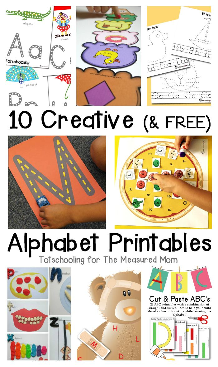 10 free alphabet printables The Measured Mom Alphabet