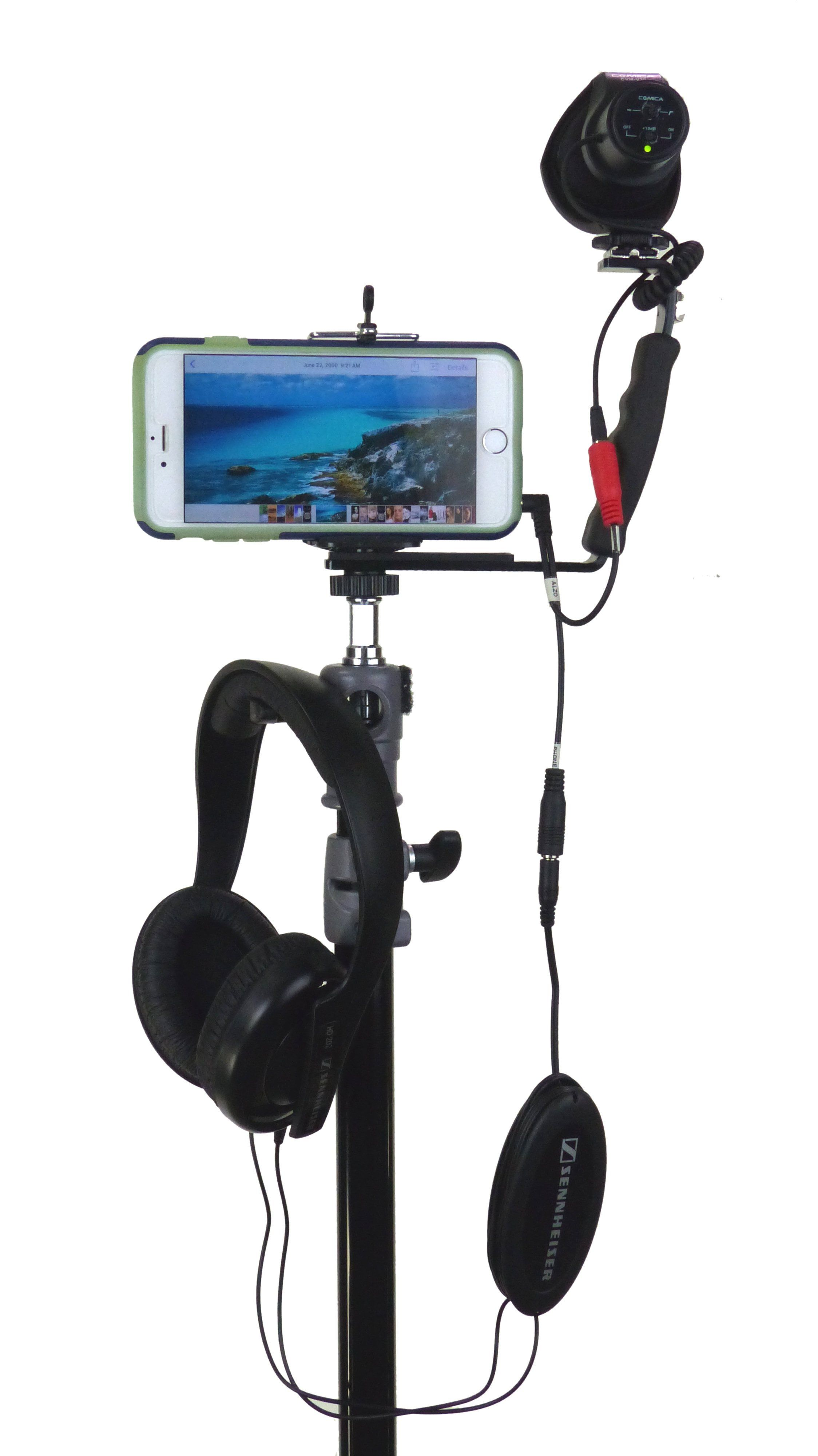 ALZO Smartphone Streaming Video Rig with Mic Headphone