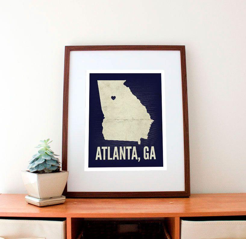 Atlanta love print 11 x 14 3299 via etsy