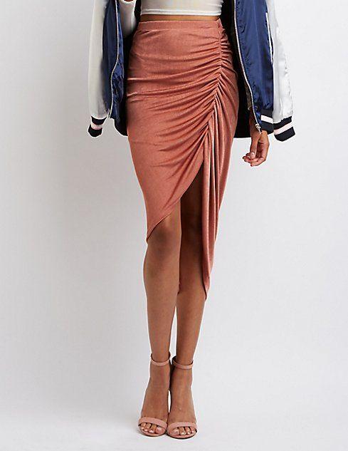 7eb3568e3bad Ruched Asymmetrical Skirt | Wardrobe in 2019 | Asymmetrical skirt ...