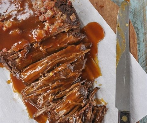 Slow Cooker Sweet & Sour Brisket - the slow cooker makes it easy, the sauce makes it delicious!