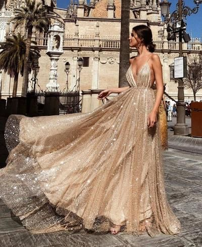 Sexy Backless Spahgetti Straps Halter Long Evening Prom Dresses, Cheap Custom Sweet 16 Dresses, 18477 from OkBridal
