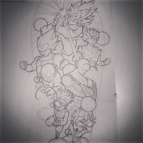 Would Love To Tattoo This Dragon Ball Z Sleeve Dragonball Dragondallz Dragon Ball Tattoo Dragon Ball Art Dragon Ball Artwork