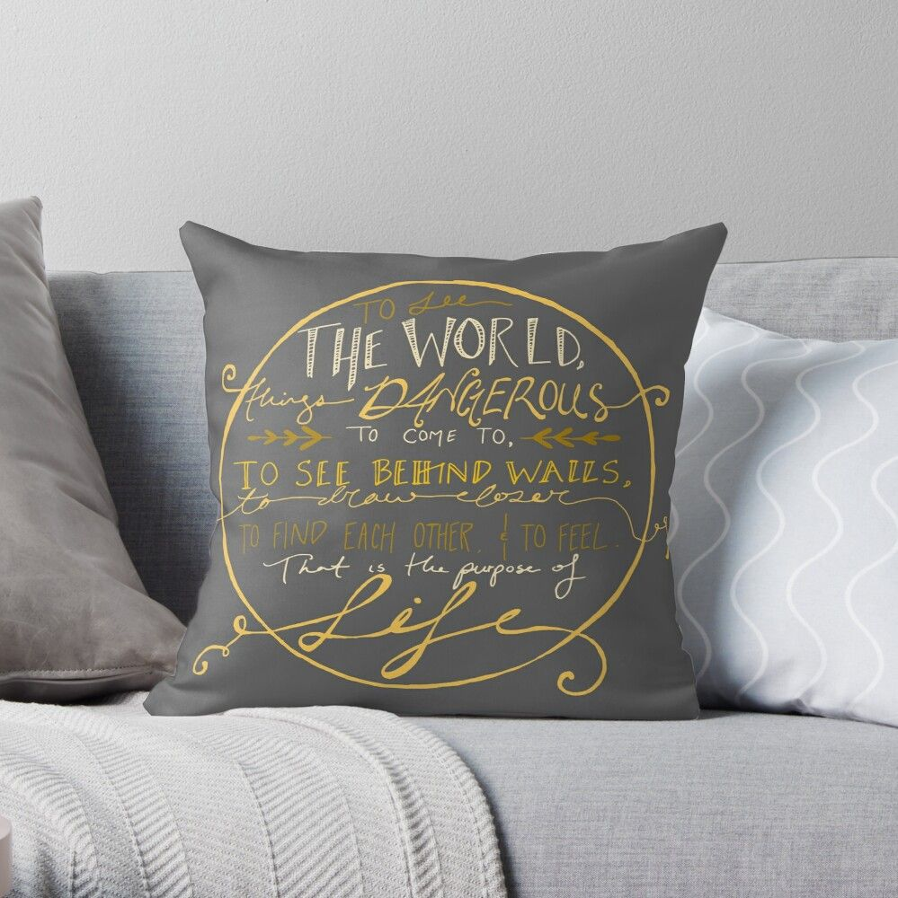 Walter Mitty Quote Graphic Throw Pillow by IAMTHEMEDIUM