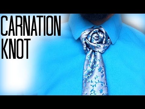How To Tie A Tie Carnation Knot Youtube With Images Tie