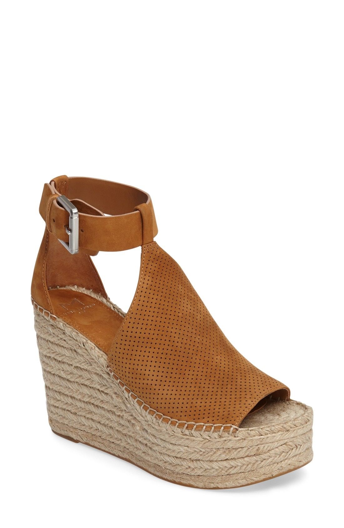 c4740772d1e Marc Fisher LTD Annie Perforated Espadrille Platform Wedge (Women)  available at  Nordstrom