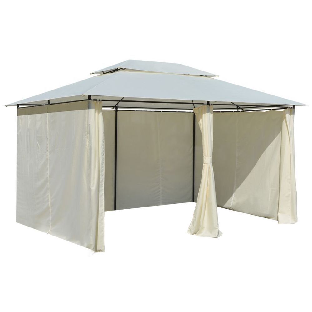 Gazebo For Patio Bbq Outdoor Canopy With Curtains 13 X 10 Party Tent Furniture Gazeboforpatio