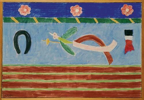 Passaro De Papelao Alfredo Volpi Abstract Art Naive Art