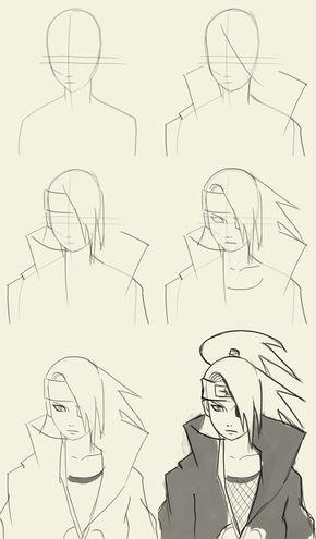 How to draw Deidara | Sketsa