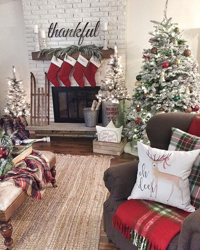 Thethankfulfarmhouse S Stockings Were Hung By The Chimney With