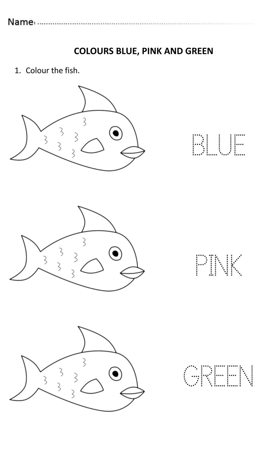 9 Pink Worksheet For Preschool