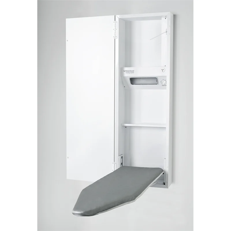 Robinhood Deluxe Ironing Centre In 2020 Wall Mounted Ironing Board Ironing Center Ironing Board Storage