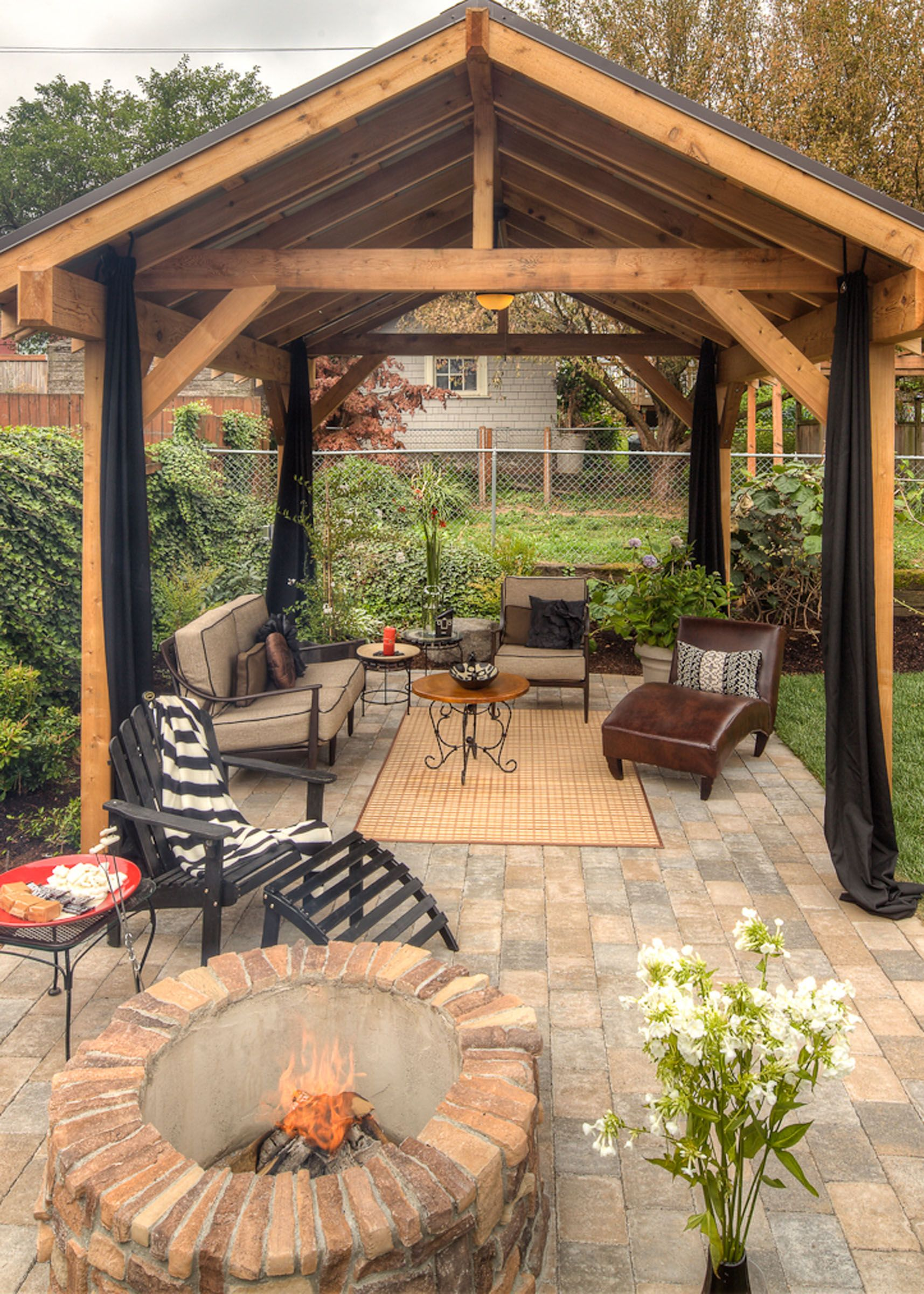 Backyard Gazebo pinparadise restored on exteriors/outdoor living | pinterest