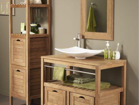 Décoration de Maison] : indogate meuble salle de bain bois gris ...