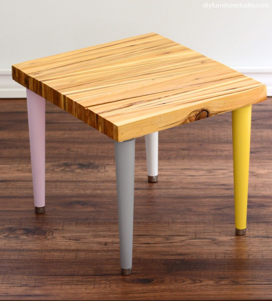 To Learn How To Prepare Tree Stumps For Furniture Go Here And Here I Love Waddell Brand Tapered Legs Because Of Their Shape Mid Century Modern A Table