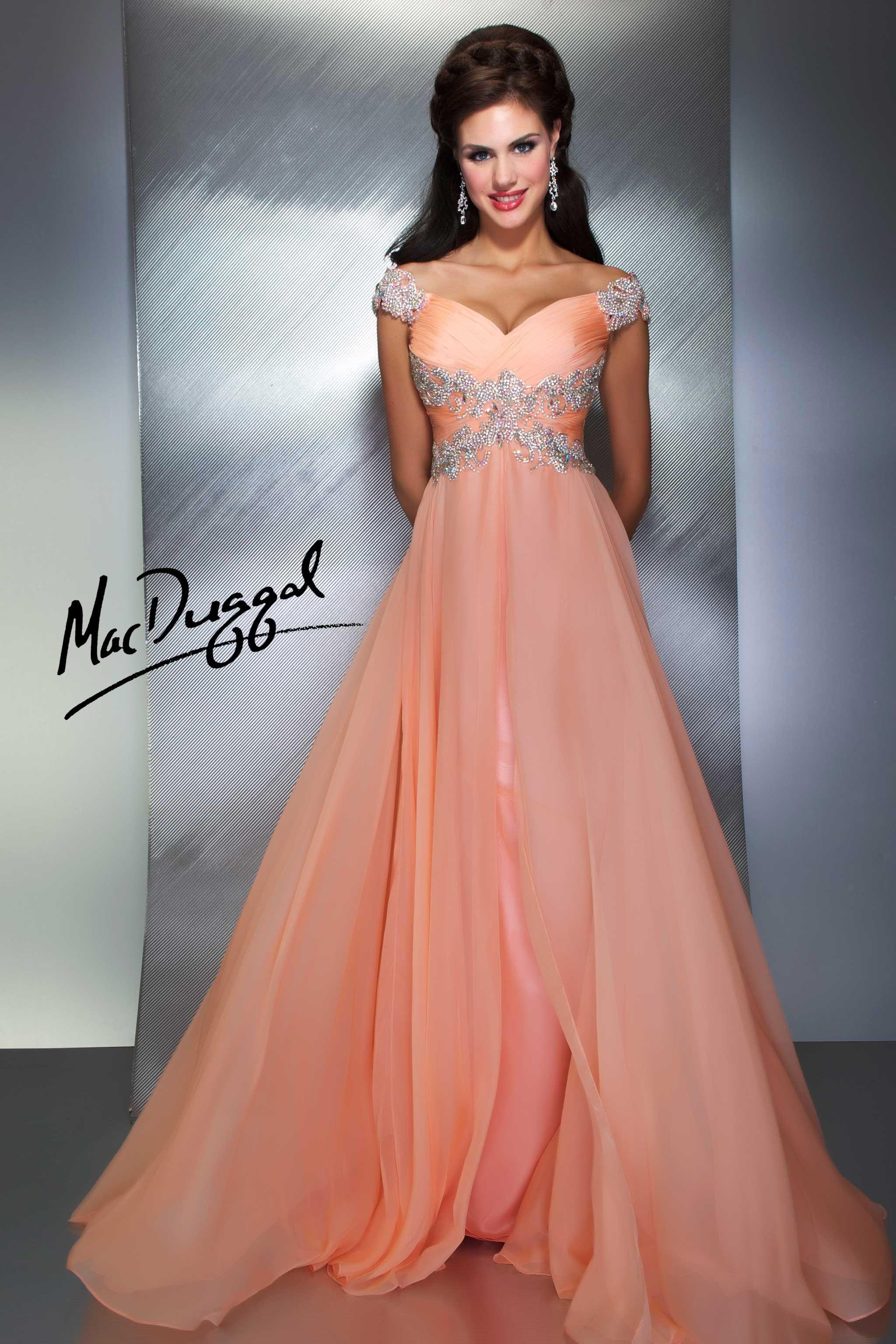 Dark Peach Prom Dress