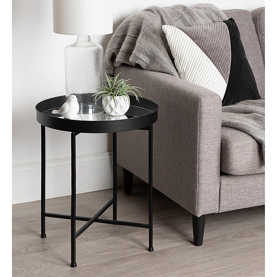 Kate And Laurel Celia Accent Table In 2020 Black Side Table Living Room Living Room Side Table Table Decor Living Room