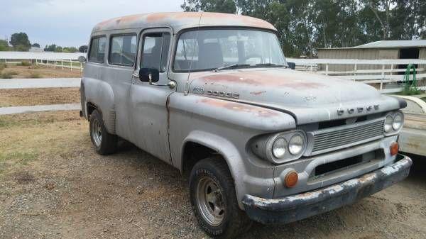 1966 dodge d100 town wagon | Wagon, Dodge, Car model