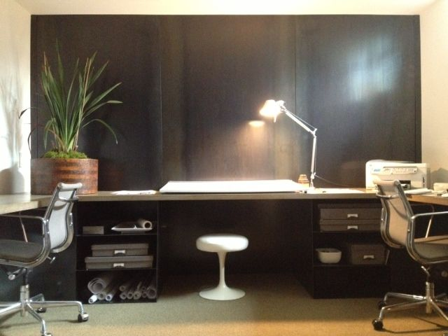 Nelleen Berlin Interior Design Minimal Masculine Study