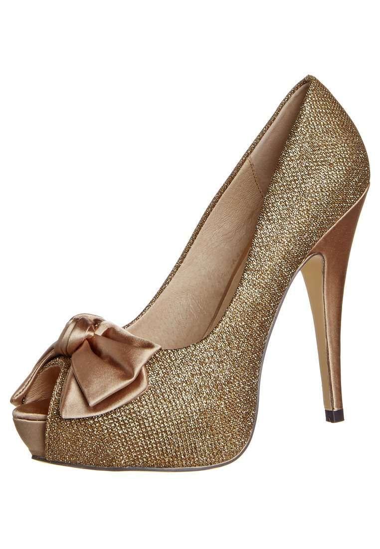 Zapatos para fiesta de noche color dorado http//zapatosd.info/zapatos