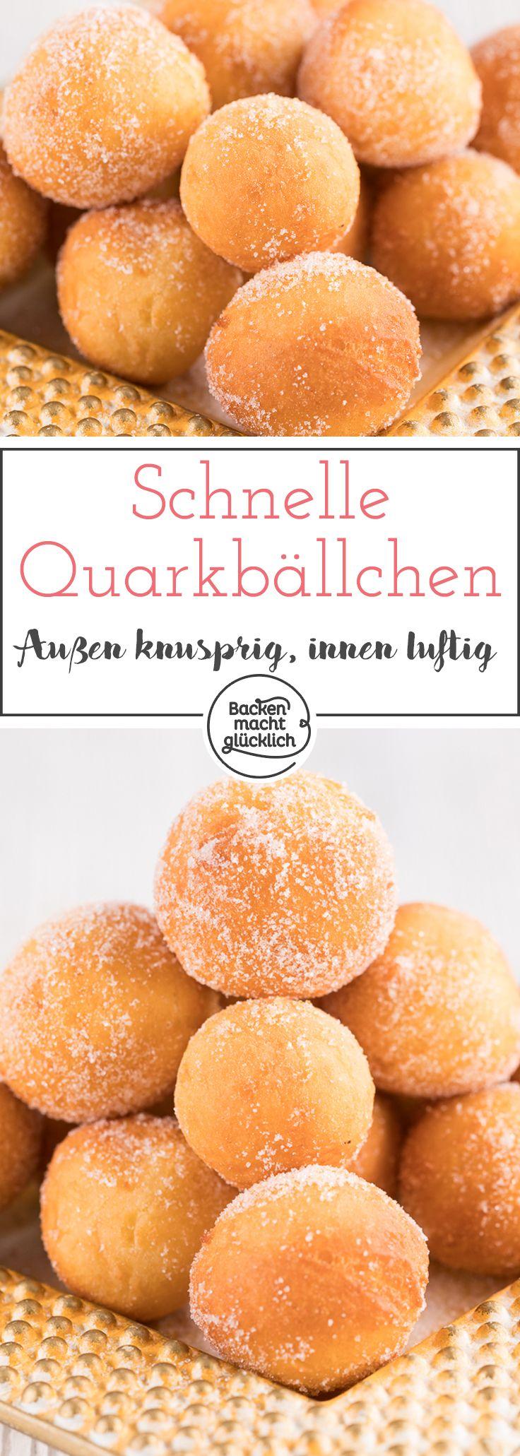 Quarkbällchen #apfelrosenmuffins