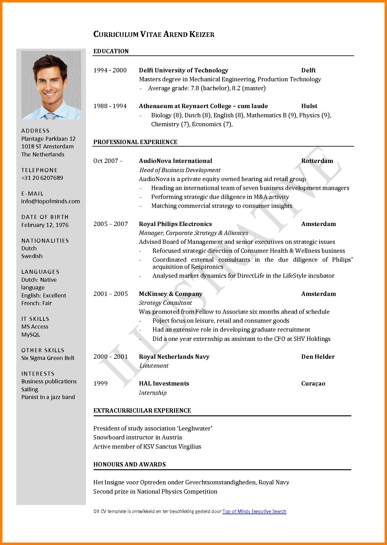 Cv Template Latest Job resume format, Curriculum vitae