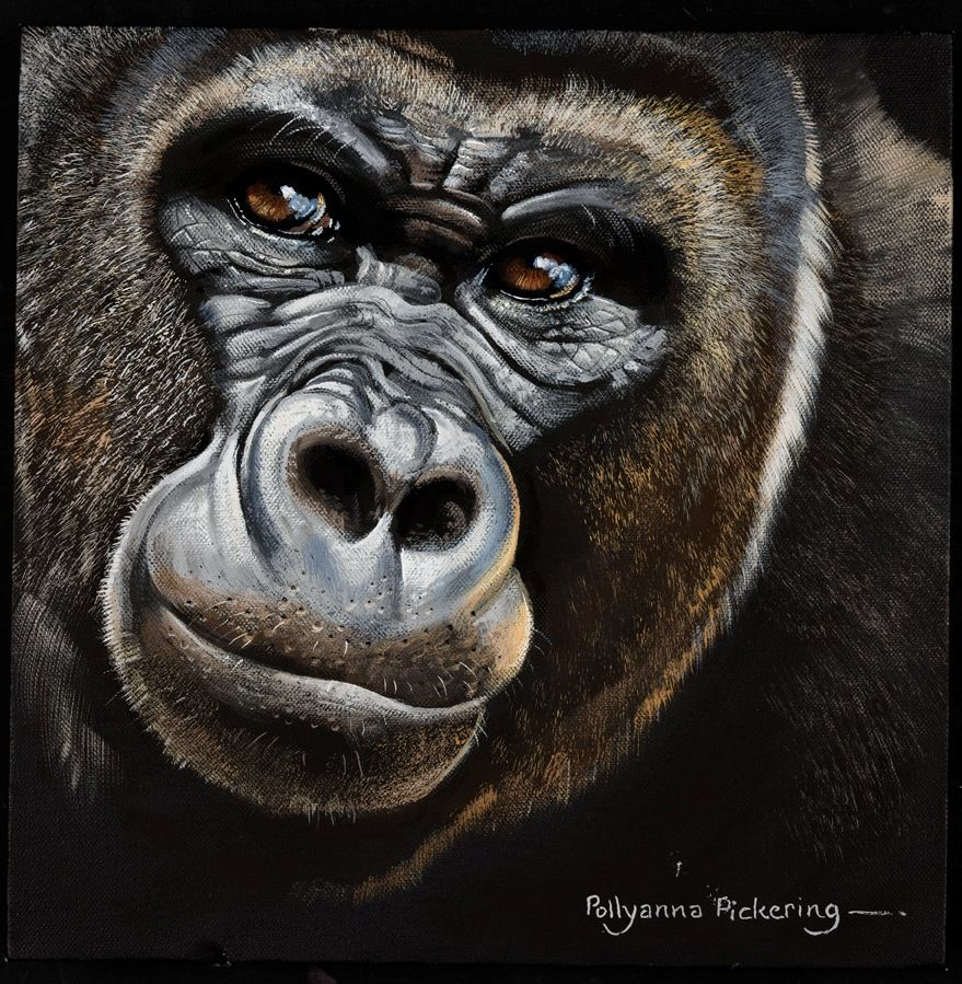art painting of gorilla this painting was exhibited to the