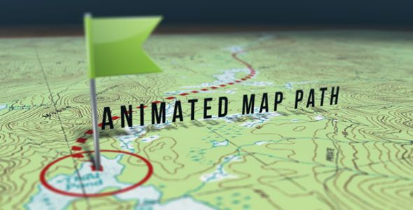 Animated Map Path • After Effects Template • See it in