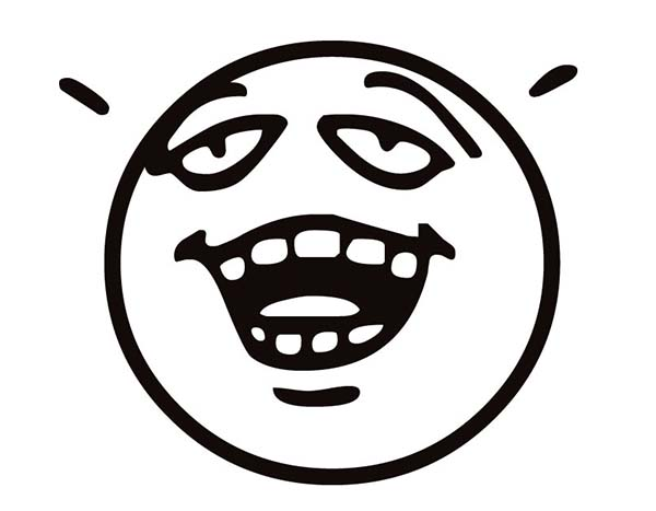 Relieved Silly Face Coloring Page Coloring Sky
