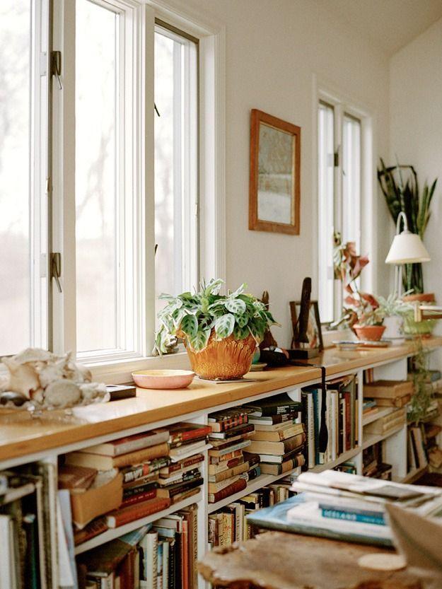 Under Window Bookshelf Only A Little Lower So We Can Sit On It