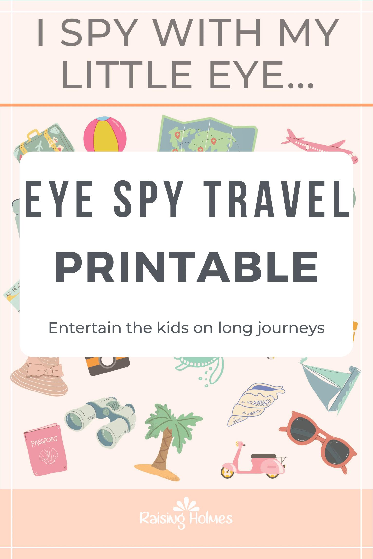 Free Eye Spy Travel Printable In
