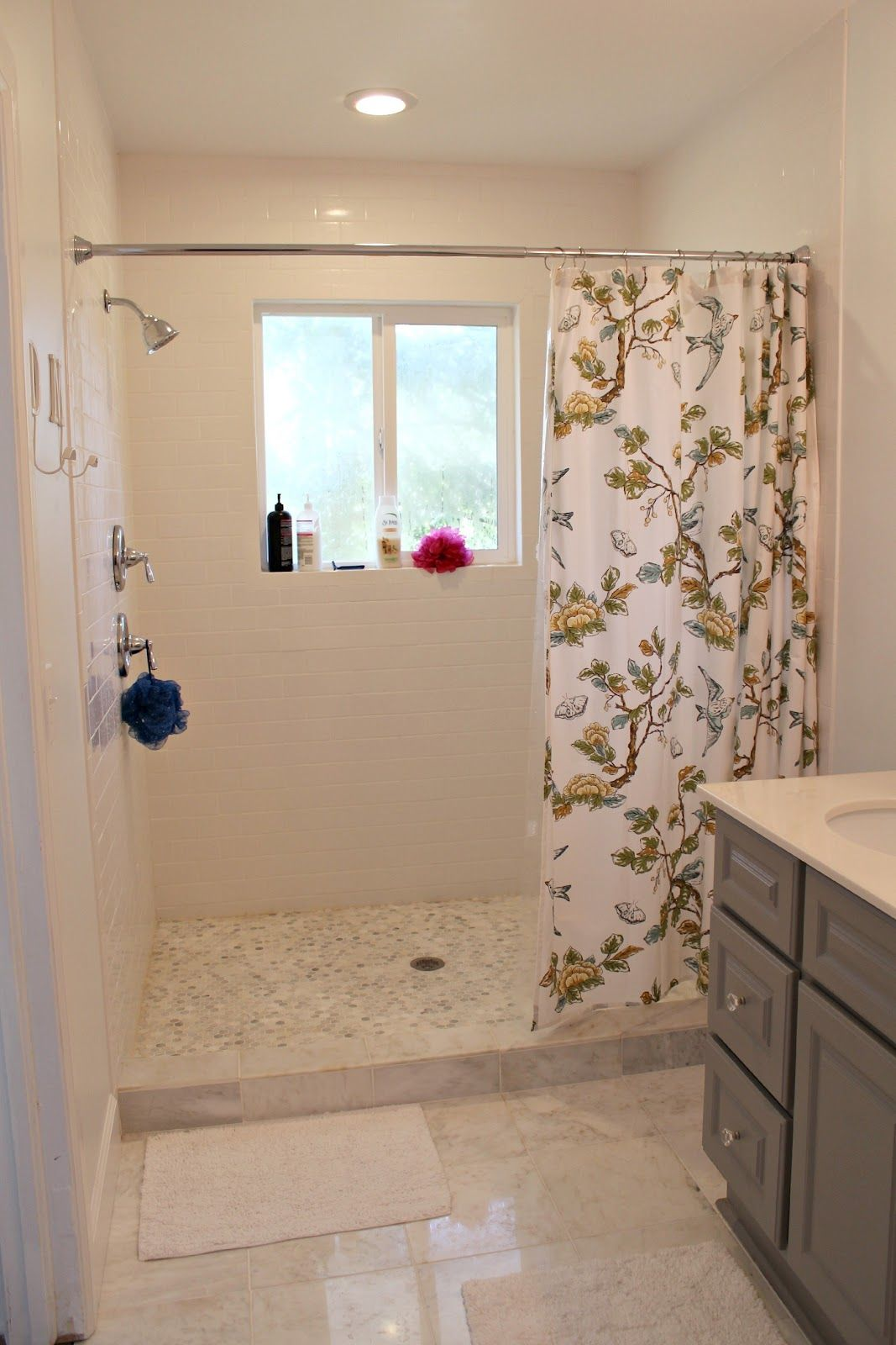 Small Walk In Shower With Curtain Google Search Bathroom Makeover Bathroom Remodel Shower Bathrooms Remodel