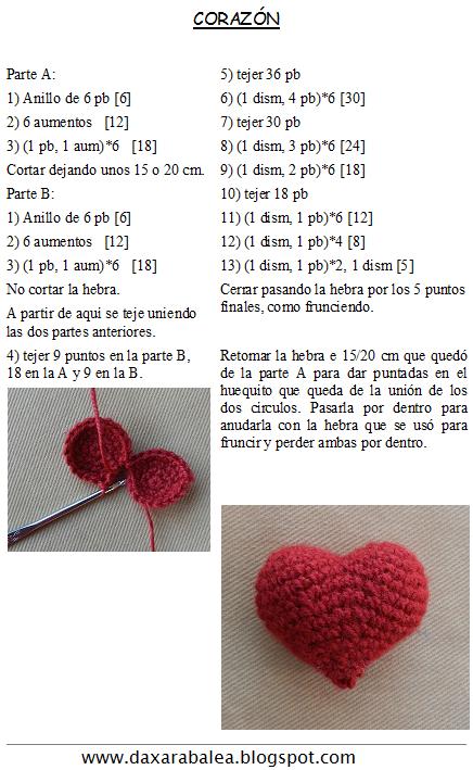 patron gratis corazon amigurumi | free pattern amigurumi heart ...