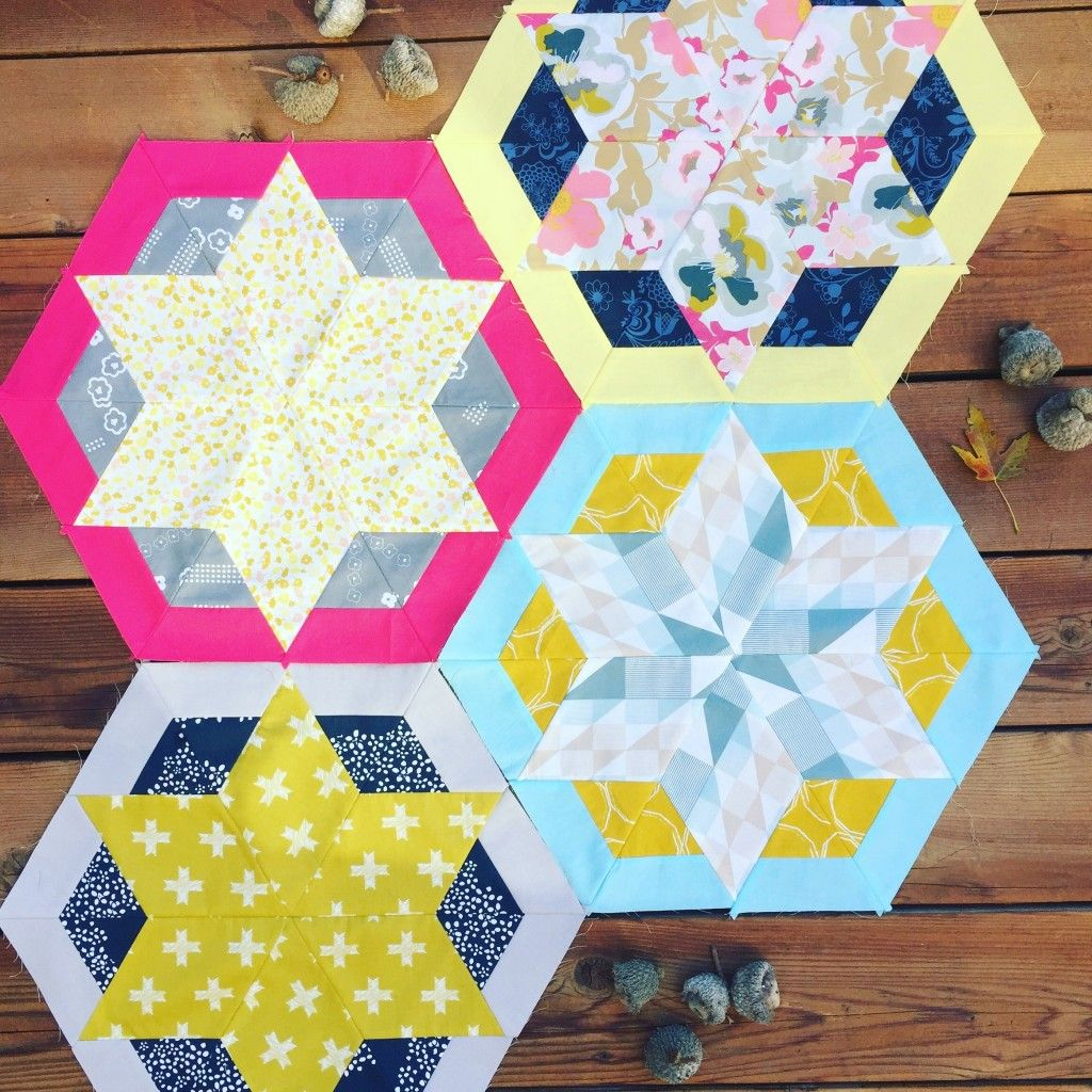 hexagon star quilt blocks with Heartland fabrics by Art Gallery ... : quilting from the heartland - Adamdwight.com