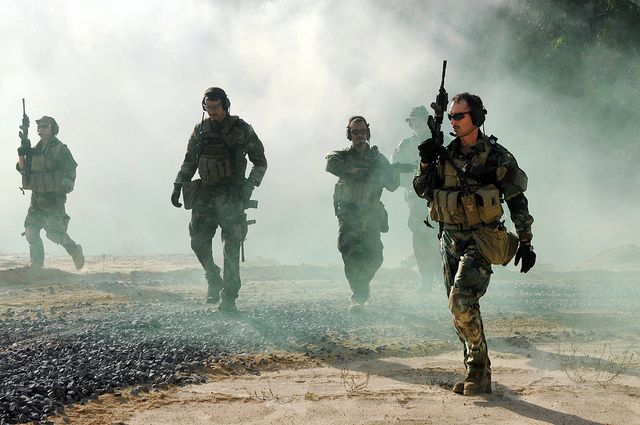 US Navy SEALs conduct action drills by AN HONORABLE GERMAN, via ...