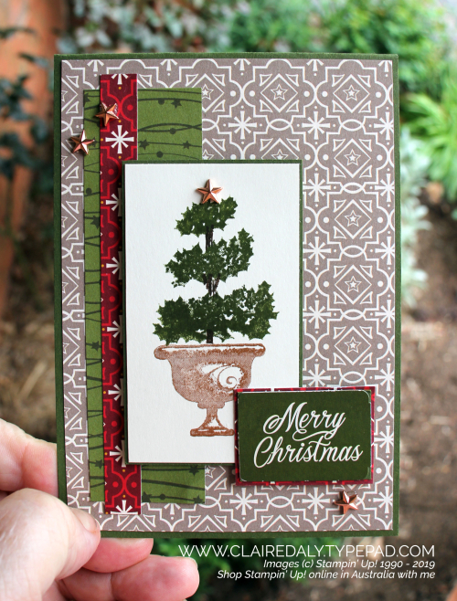 Stampin Up Australia Claire Daly Independent Demonstrator Melbourne Christmas Cards Stampin Up Handmade Christmas