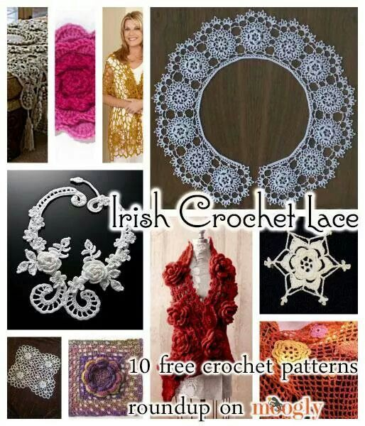 Irish lace crochet from moogly | crochet2 | Pinterest