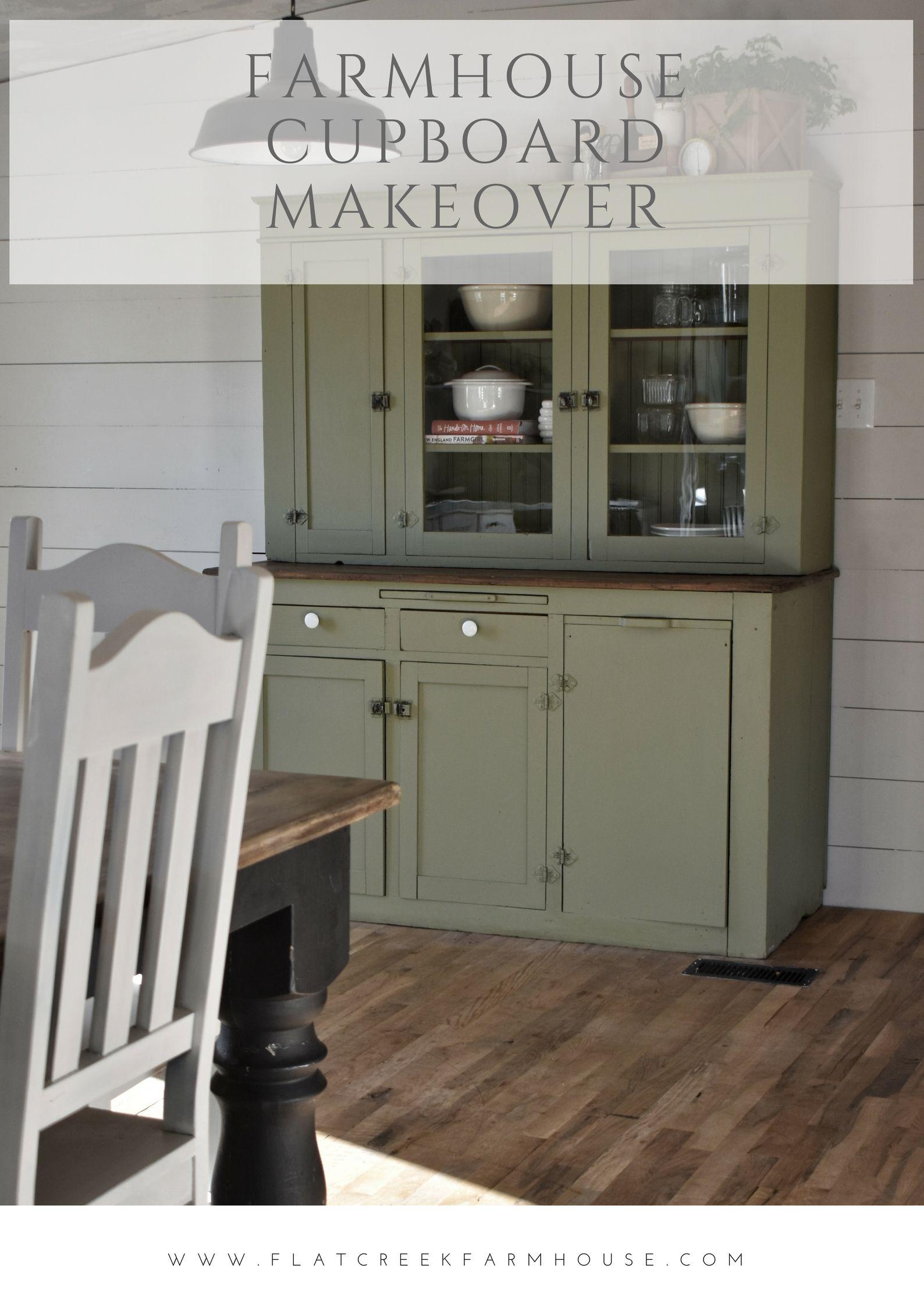 Farmhouse Cupboard Makeover Cupboard makeover, Farmhouse