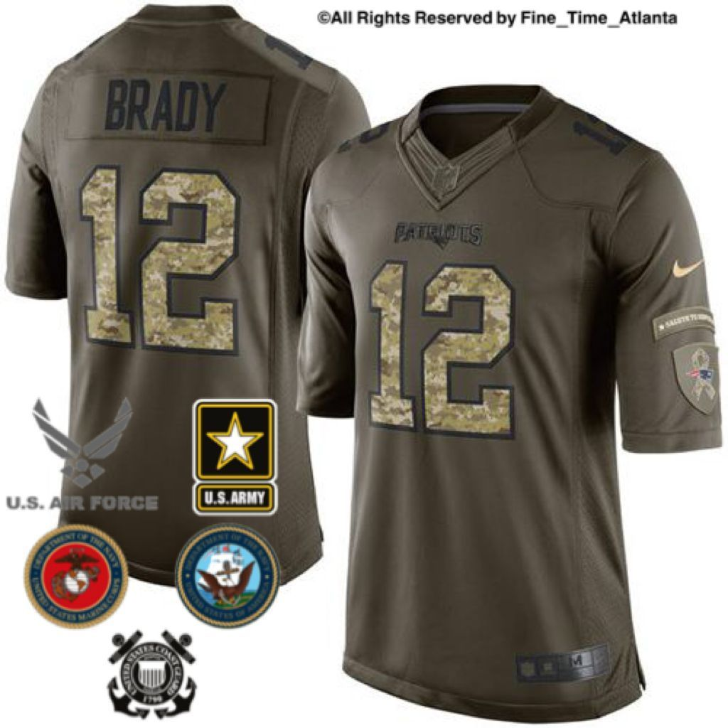58a00f69a59 NEW Tom Brady New England Patriots Men s Salute To Service Military Camo  Jersey