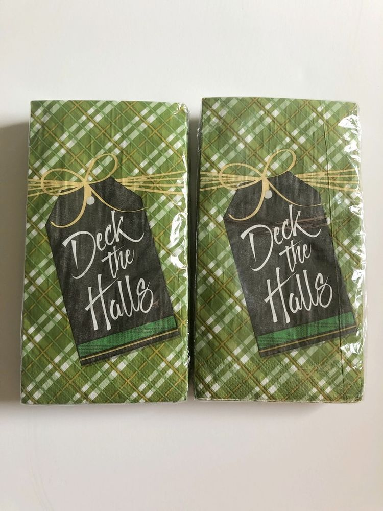 Deck The Halls Christmas Paper Napkins Guest Towels Dinner Buffet 2 Packs Of 20 Nantucket Christmas Paper Napkins Guest Towels Christmas Paper