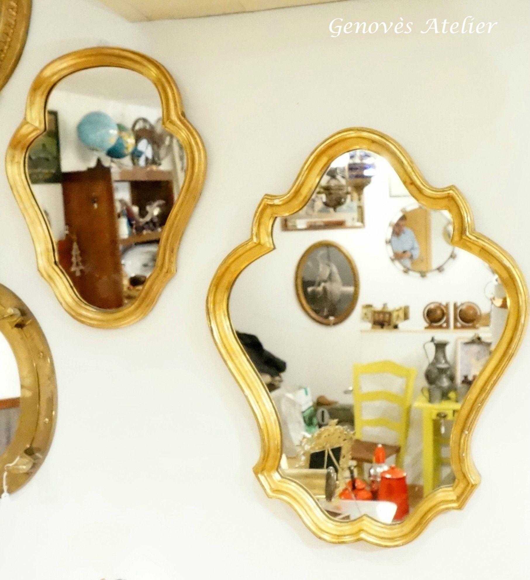 Pareja de espejos de estilo frances 6 Genoves Atelier