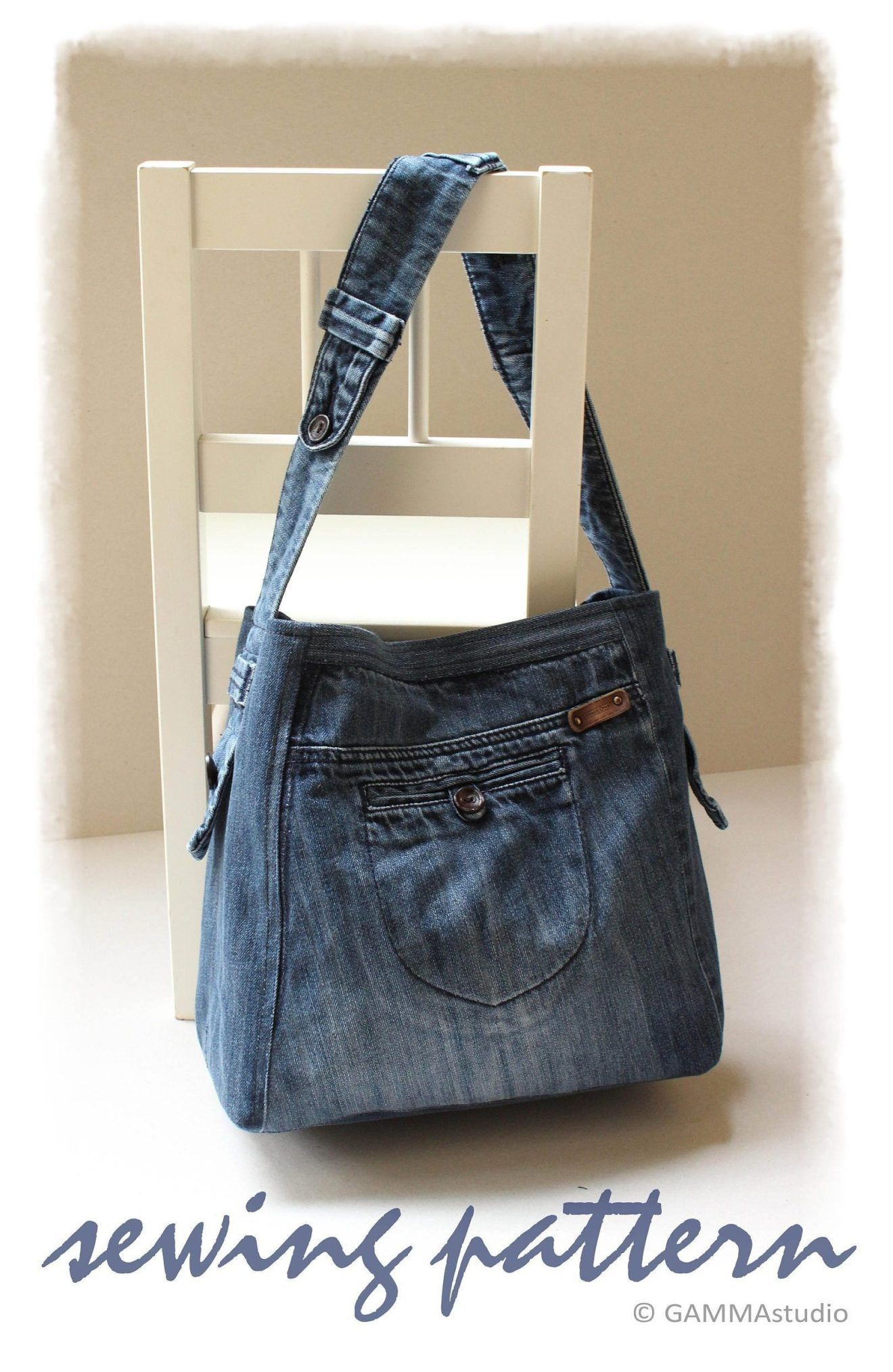 Sew a Modern Recycled Denim Purse