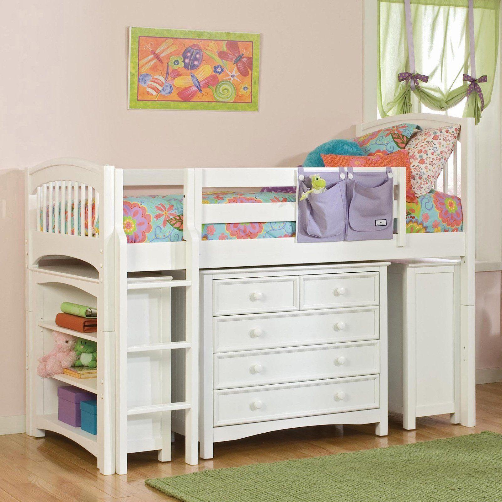Best Windsor Low Loft White Ver158 Low Loft Beds Bunk 400 x 300