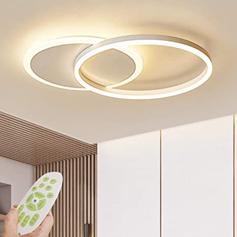 Rings Acrylic Modern Ceiling Light Dimmable Led Ceiling Chandelier With Remote Control Living Room Lamp Dini Modern Ceiling Light Modern Ceiling Ceiling Lights