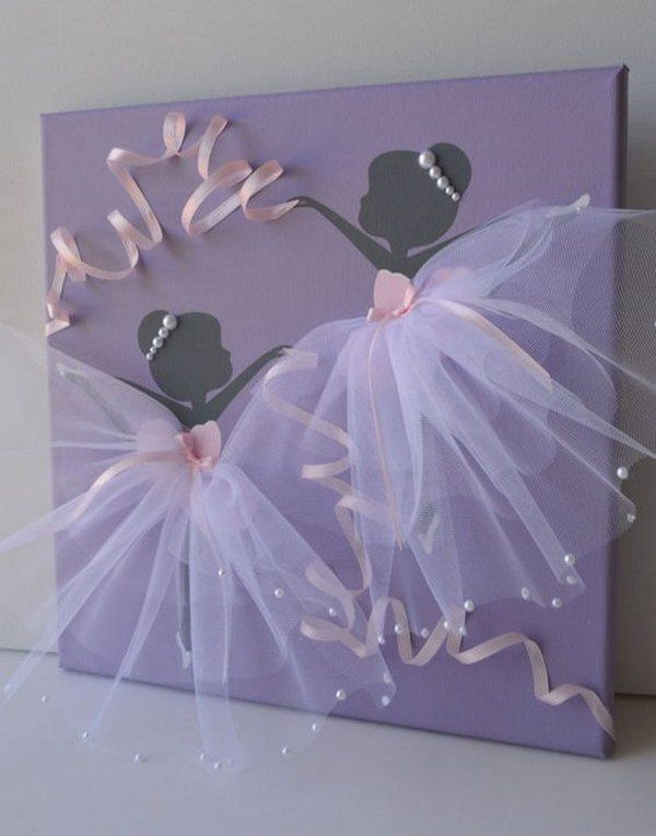 Elegant Dancing Ballerina Canvas Wall Art