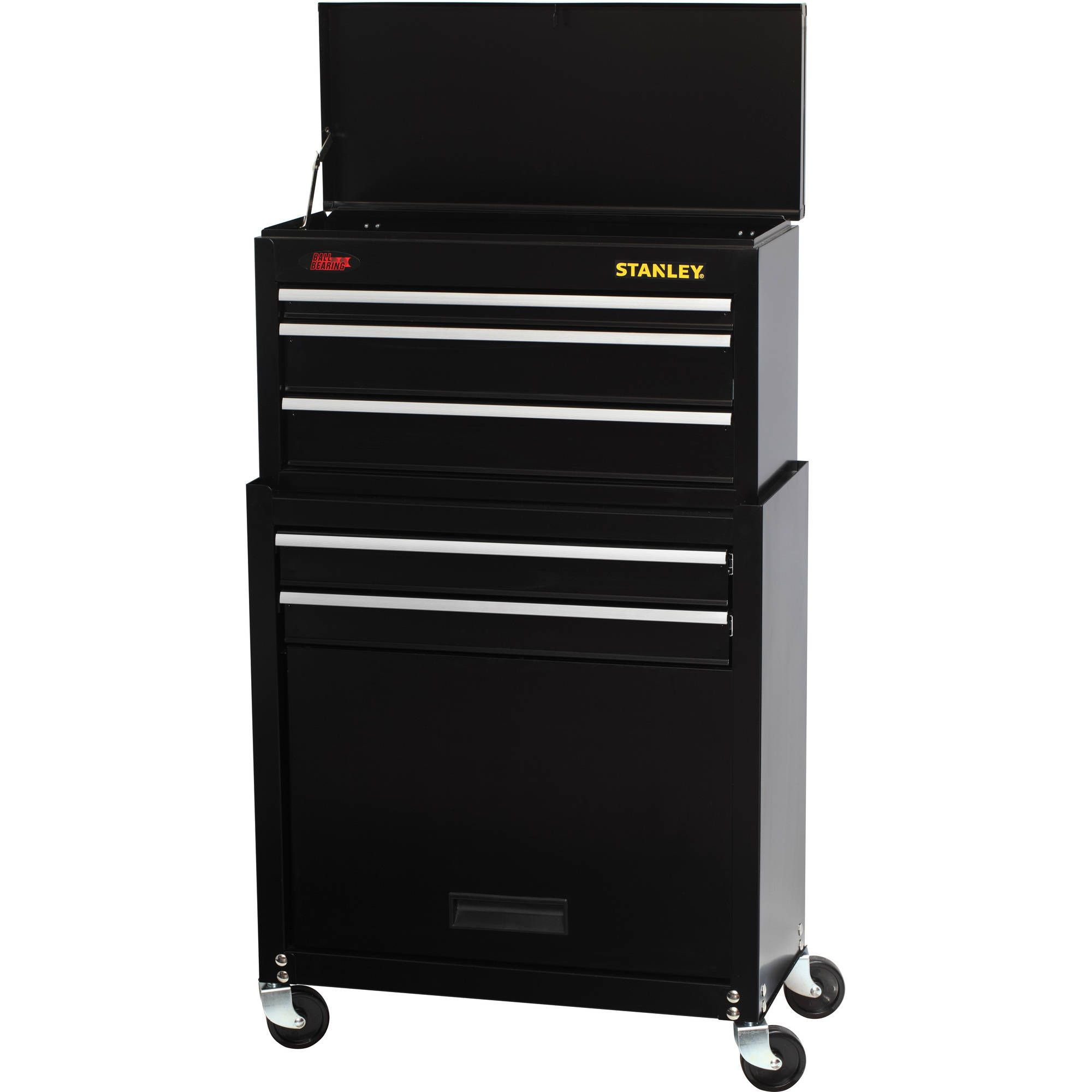 Stanley Stmt74898 5 Drawer Rolling Tool Chest With Bonus 68 Piece Mechanics Tools Set For 90 Tool Chest Tool Storage Tool Box Organization