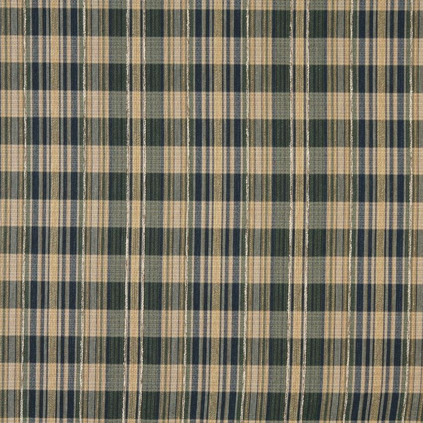 Beige And Dark Blue Plaid Tweed Upholstery Fabric Upholstery
