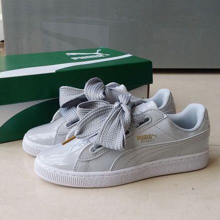 sports shoes 66131 c5df4 RIHANNA Womens Sude heart Prevail Basket Heart Silk ribbon ...