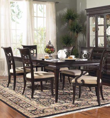 Kendall Rectangular Leg Dining Table Samuel Lawrence Kendall Classy Kendall Dining Room Inspiration Design