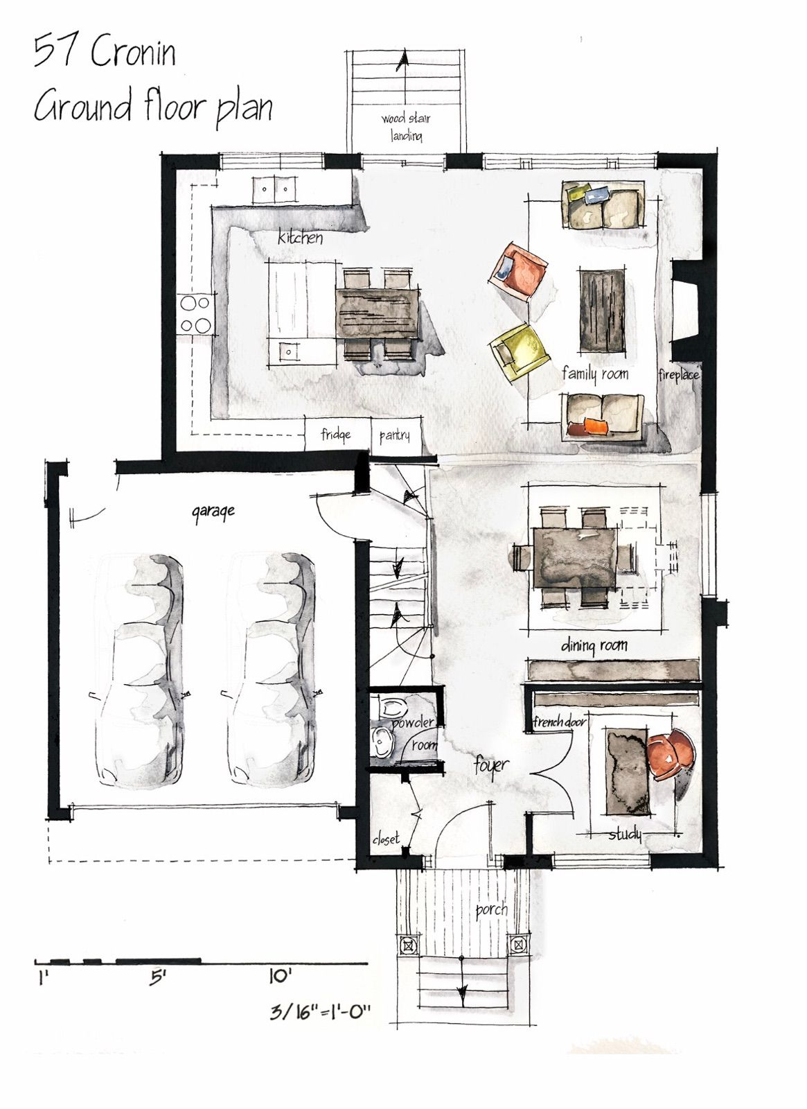 Designing A Space With User Comfort In Mind Our Body Dimensions And The Way We Move And Perce Interior Design Sketches Interior Design Plan Floor Plan Design
